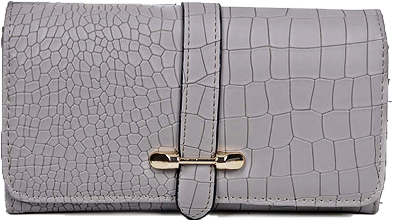 Snakeskin Wallets for Women Leather RFID Flap Clutch Purse Big