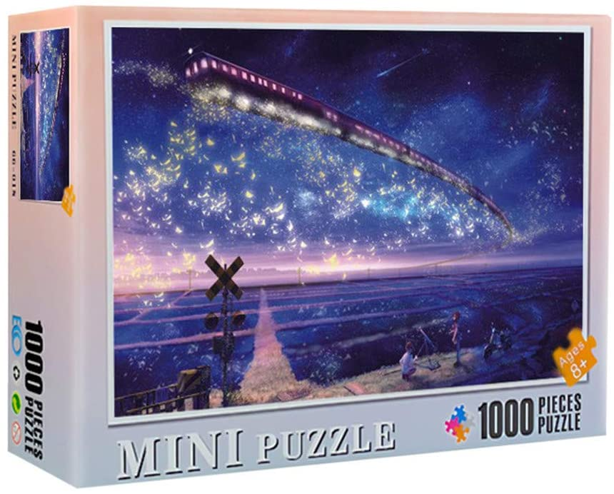 Wholesale 1000 Pieces Jigsaw Puzzles for Adults - Micro Jigsaw Puzzles-38 x 26cm/ 14.96 x 10.24inch-Travel by Star Train-Best DIY Home Decor