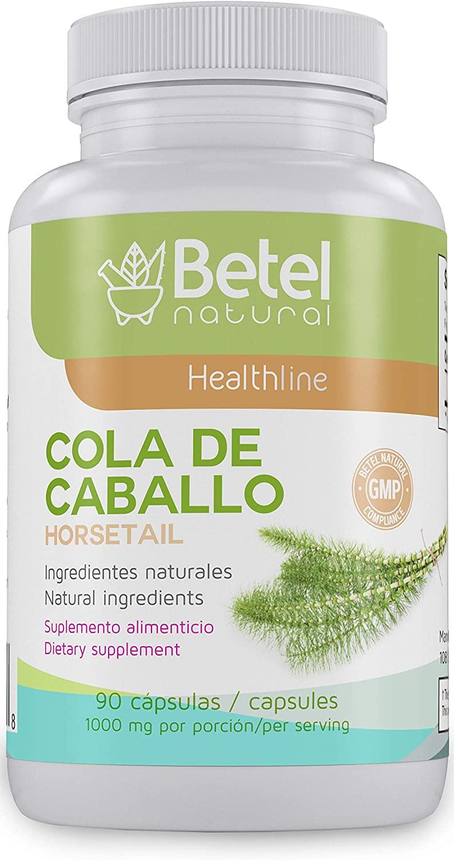 Cola de Caballo (Horsetail) Herbal Capsule by Betel Natural - Healthy Nails, Skin, & Hair - 1000 mg per Serving