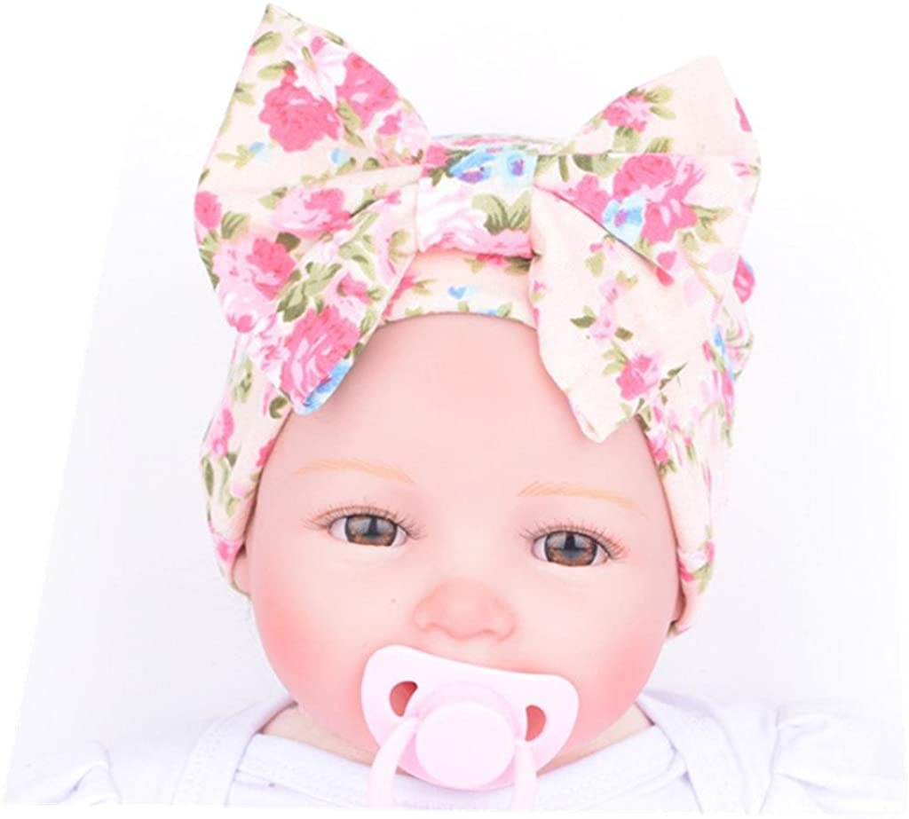 Mikey Store Newborn Baby Hospital Hat with Flower Bowknot Flower