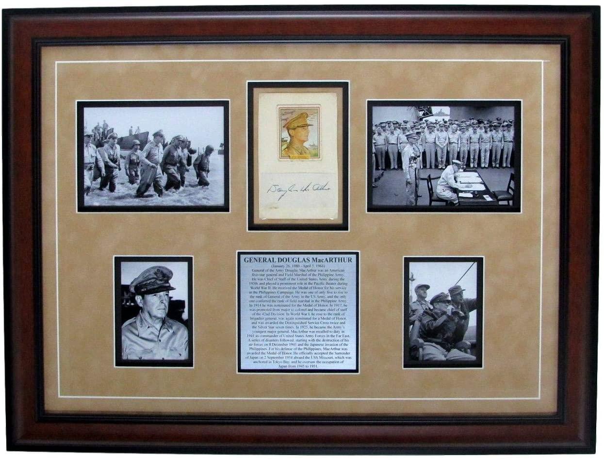 General Douglas MacArthur Autographed/Signed Photo Collage Framed 147636