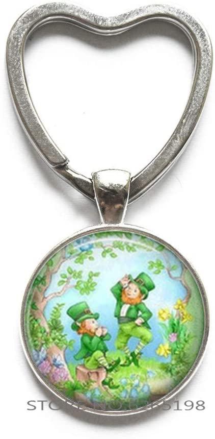 Happy St. Patricks Day Keychain, St. Patricks Key Ring,Christian Keychain,Religious Jewelry,Saint Patricks Day Gift,N197