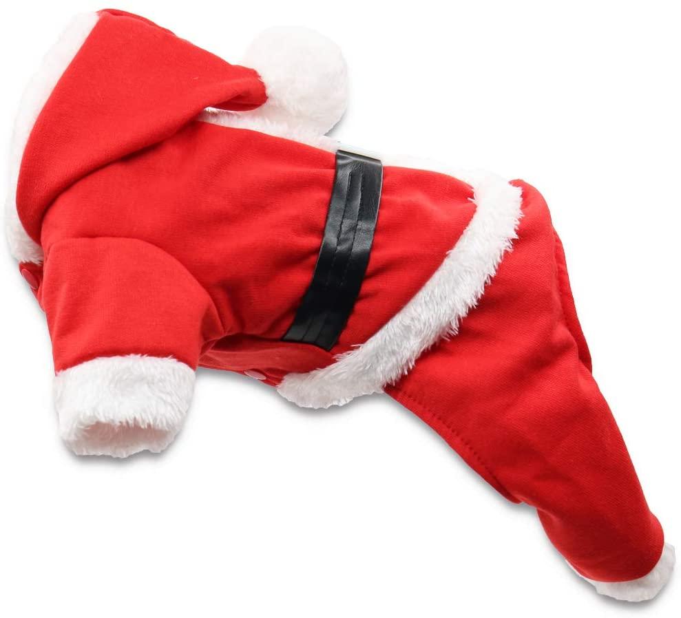 DroolingDog Dog Christmas Santa Costume Puppy Pajamas for Small Dogs