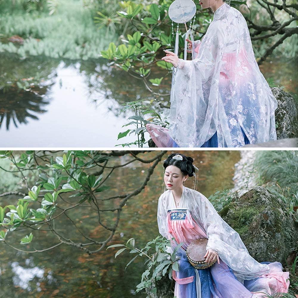 JJAIR Women's Chinese Dress, Vintage Embroidered Hanfu Long Sleeve 6m Long Skirt Luxury Photo Shoot Clothing Christmas Dress,L