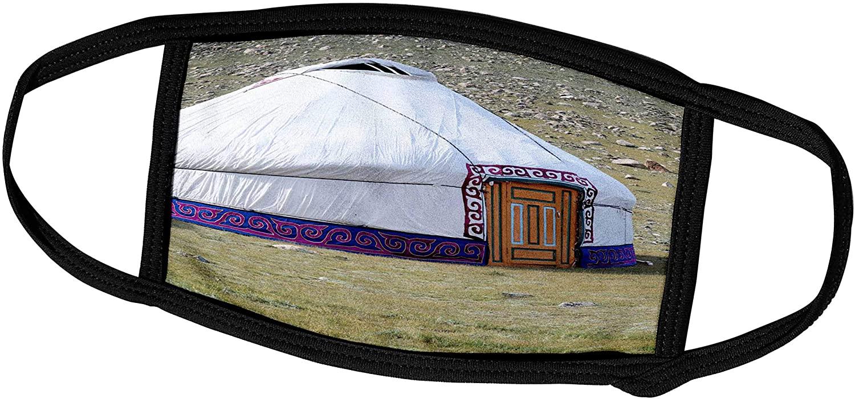 3dRose Danita Delimont - Mongolia - Western Mongolia, Khovd Province, Gashuun Suhayt. Nomad Gers or Yurts. - Face Masks (fm_247808_2)