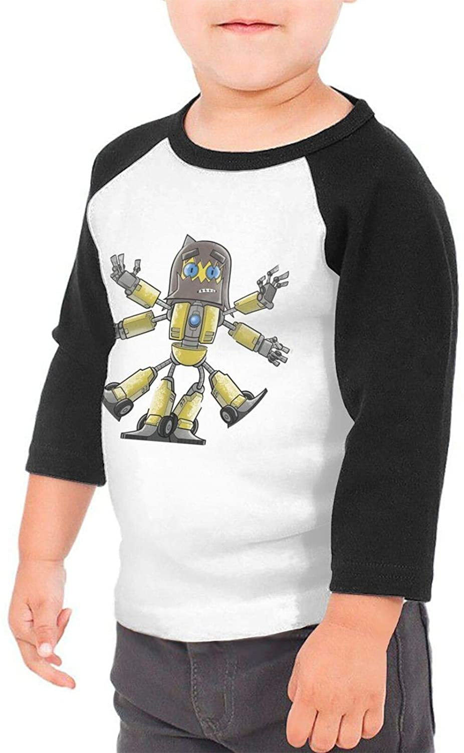 GPerlaAlva Dance Gavin Dance Cartoon Boys & Girls Infant 100% Cotton Sleeve Raglan T-Shirts Unisex