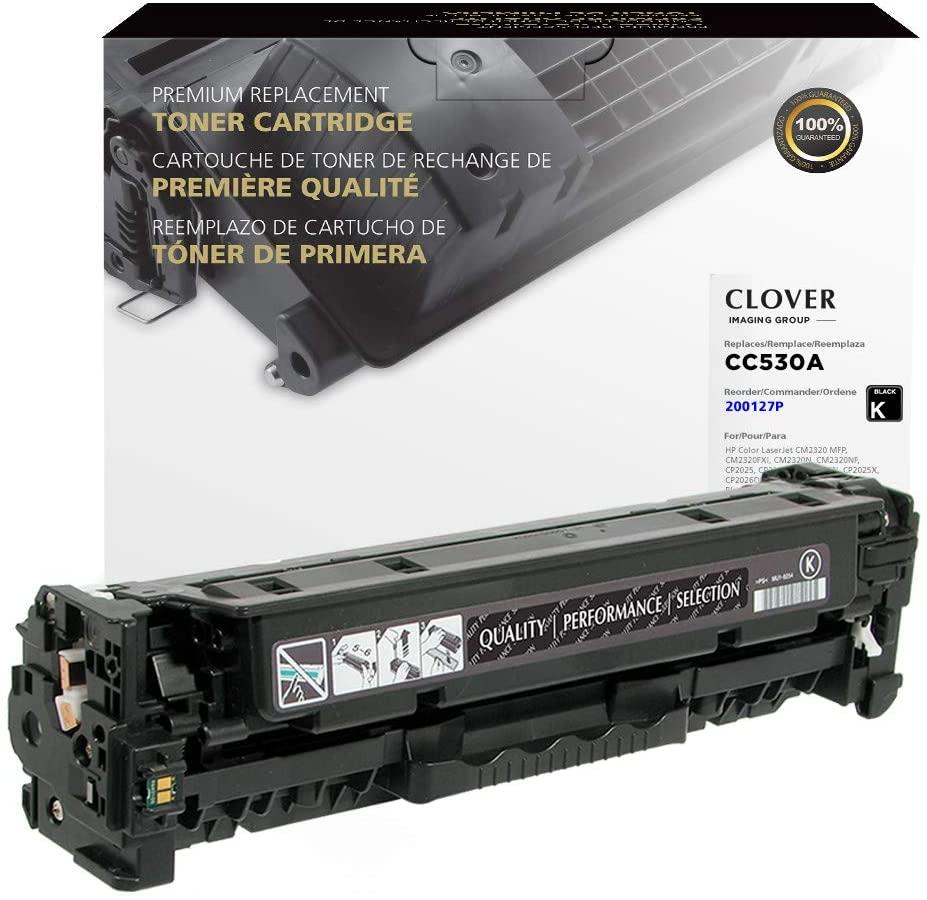 Clover Remanufactured Toner Cartridge   HP 304A   CC530A   Black
