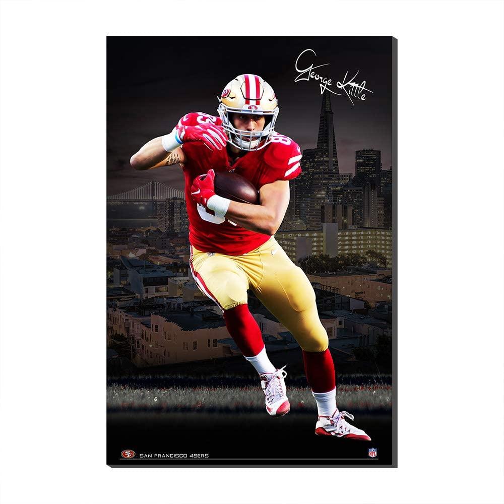 1PanelNFLOil PaintingPosterFans FootballFans Gift San Francisco 49ers George Kittle Conner CanvasPrintsPoster (No Frame,30x50cm)