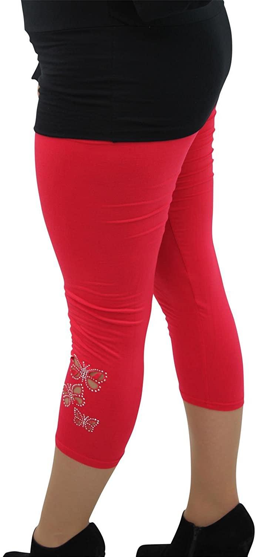 Girl Talk Clothing Plus Size 3/4 Length Butterfly Leggings