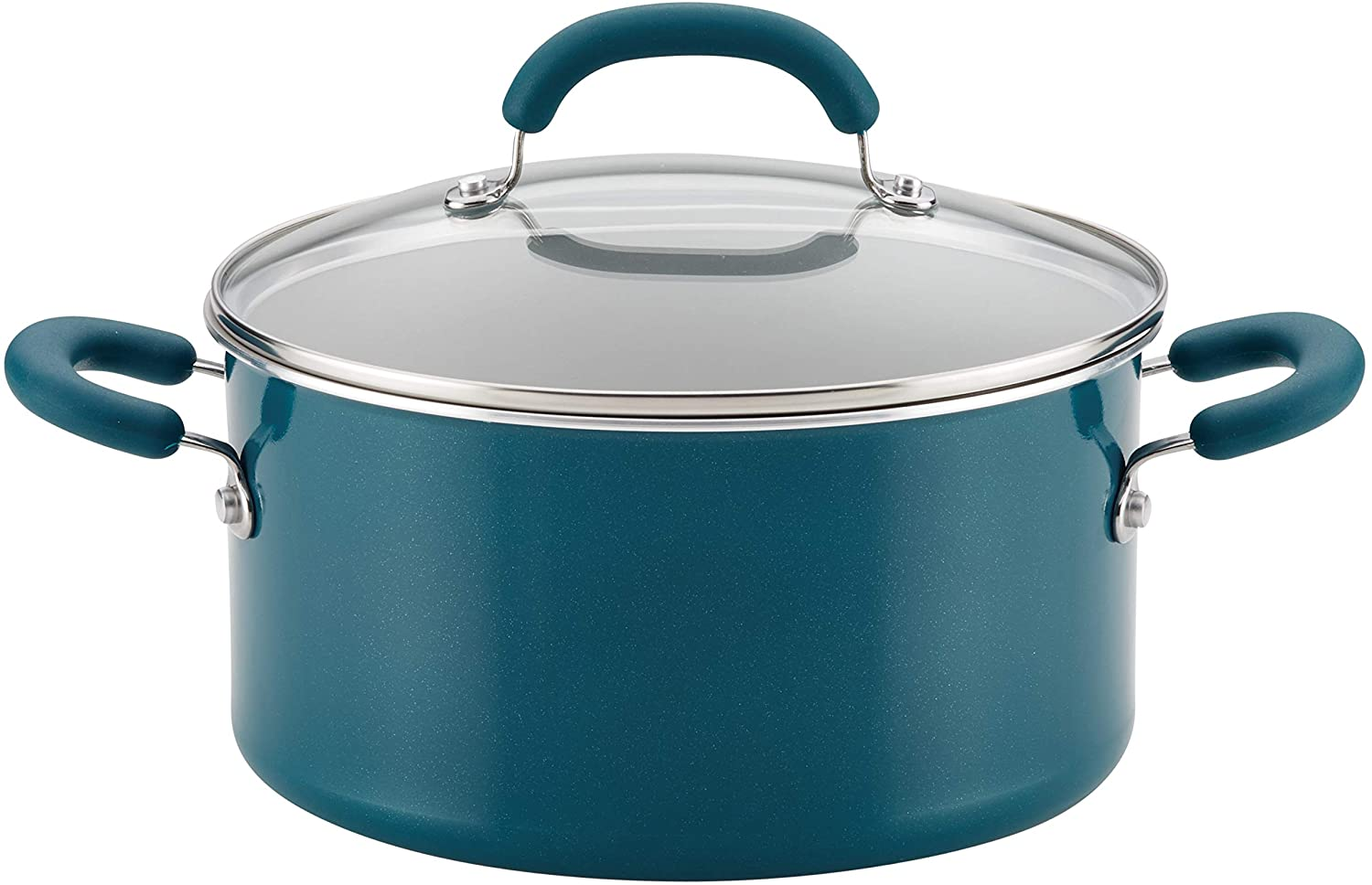 Rachael Ray Create Delicious Nonstick Stock Pot/Stockpot with Lid - 6 Quart, Blue