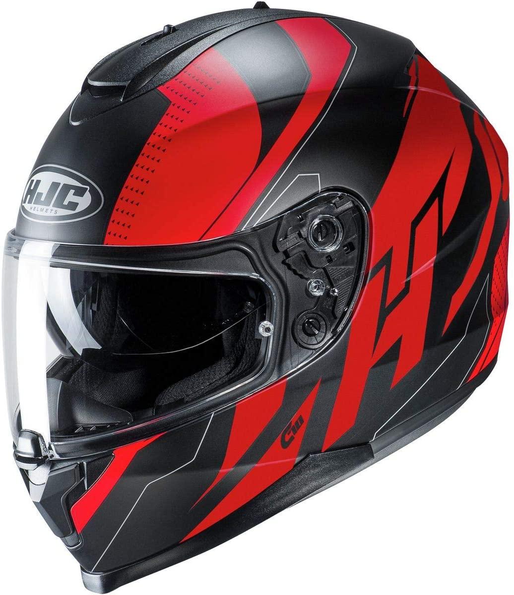 HJC C70 Helmet - Boltas (Medium) (RED/Black)
