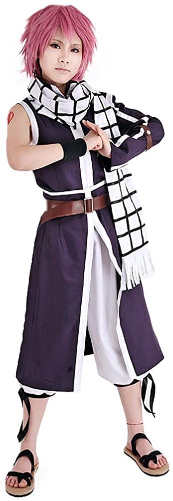 miccostumes Mens Natsu Dragneel Purple Cosplay Costume