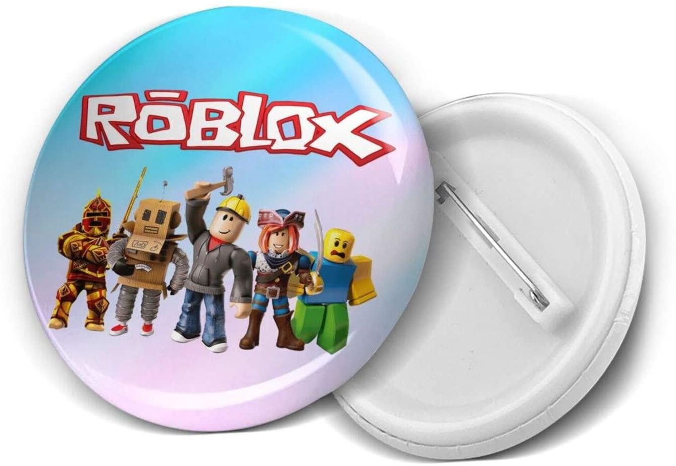 Terry B Dosxyaa Ro-Blox Popular 5 Pcs Medium Round Badge Button Buckle Large