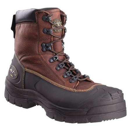 Work Boots, Brw, 6inH, 10.5Sz, WtrRsistnt, PR