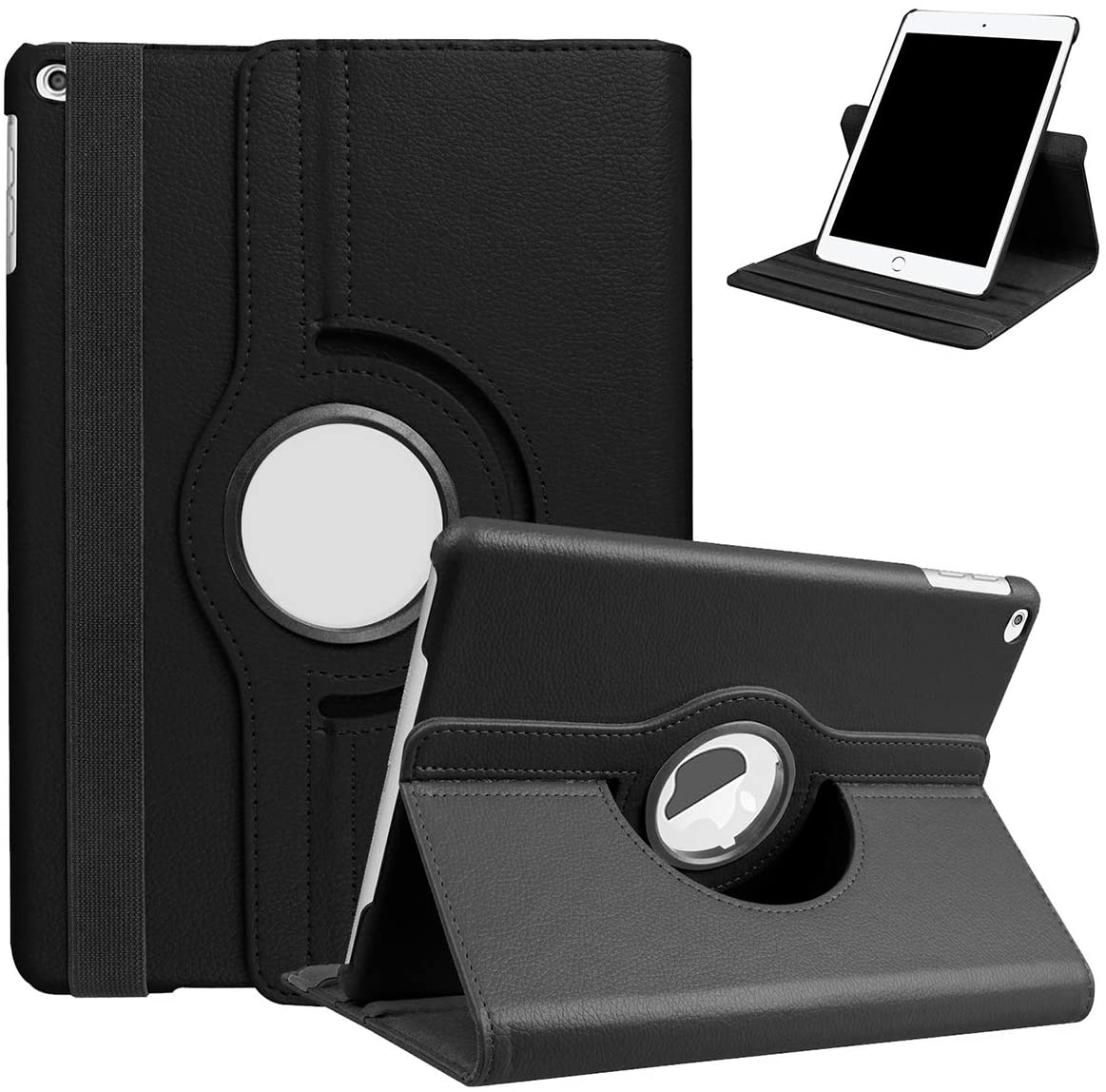 KAPRNA Rotating Case for iPad 7th Generation,Premium Tablet Case 360 Degree Rotating Stand Cover for iPad 10.2 2019/iPad Air 2019 and iPad Pro 10.5 (2017) Case,Black