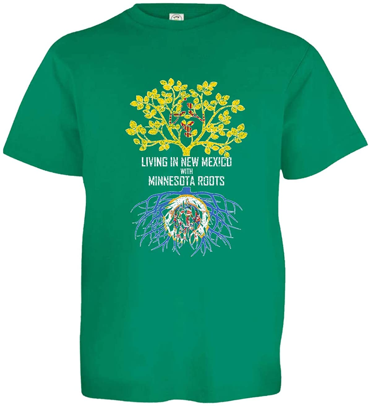 HARD EDGE DESIGN Girl's Youth Living in New Mexico with Minnesota Roots T-Shirt