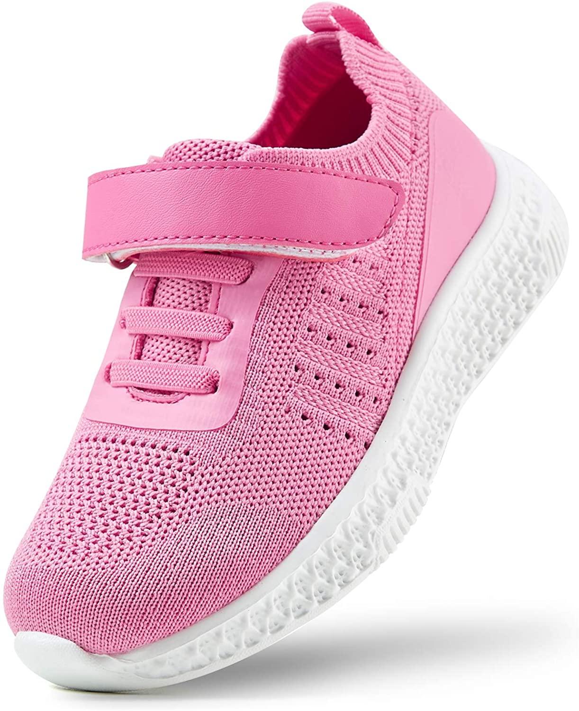 ZHILETAO Kids' Woven Mesh Hook and Loop Sneakers, Size 10-2.5 (Toddler/Little Kid)