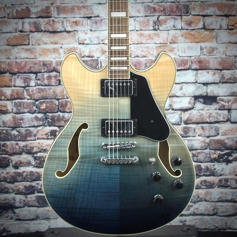 Ibanez Artcore AS73FM Semi-Hollow Electric Guitar - Transparent Indigo Fade