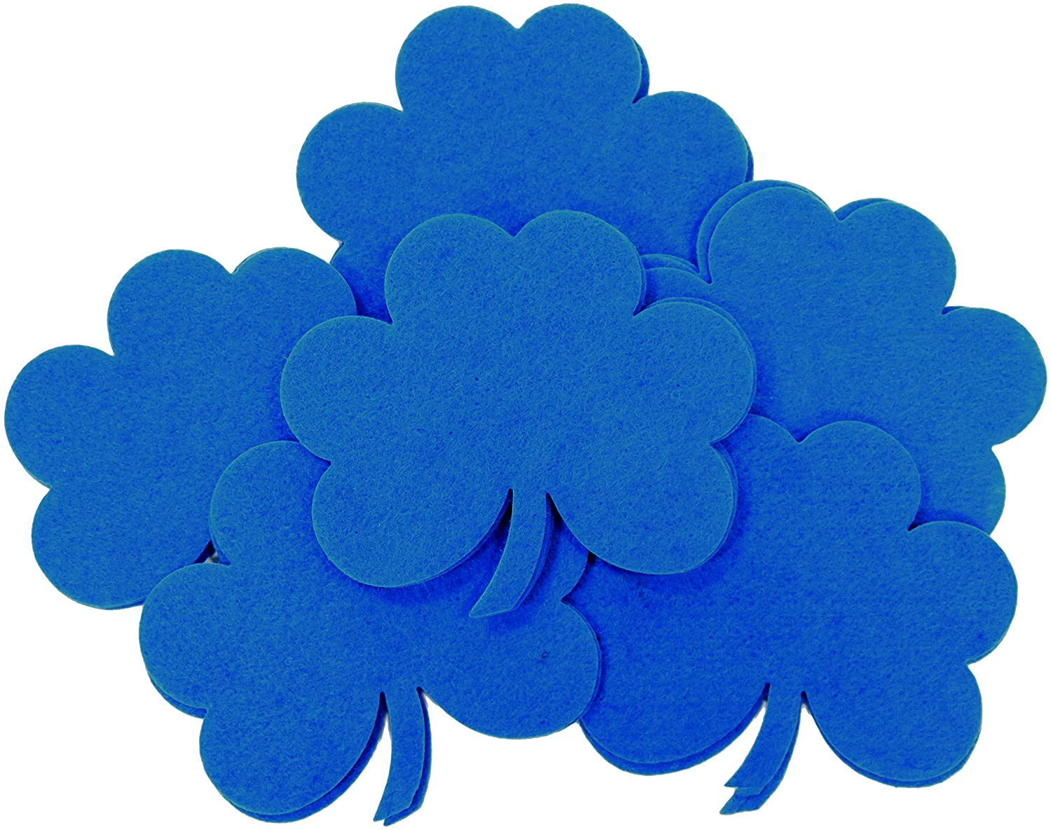 Playfully Ever After 4 Inch Clover Stiff Felt 16pc Pack (Blue)