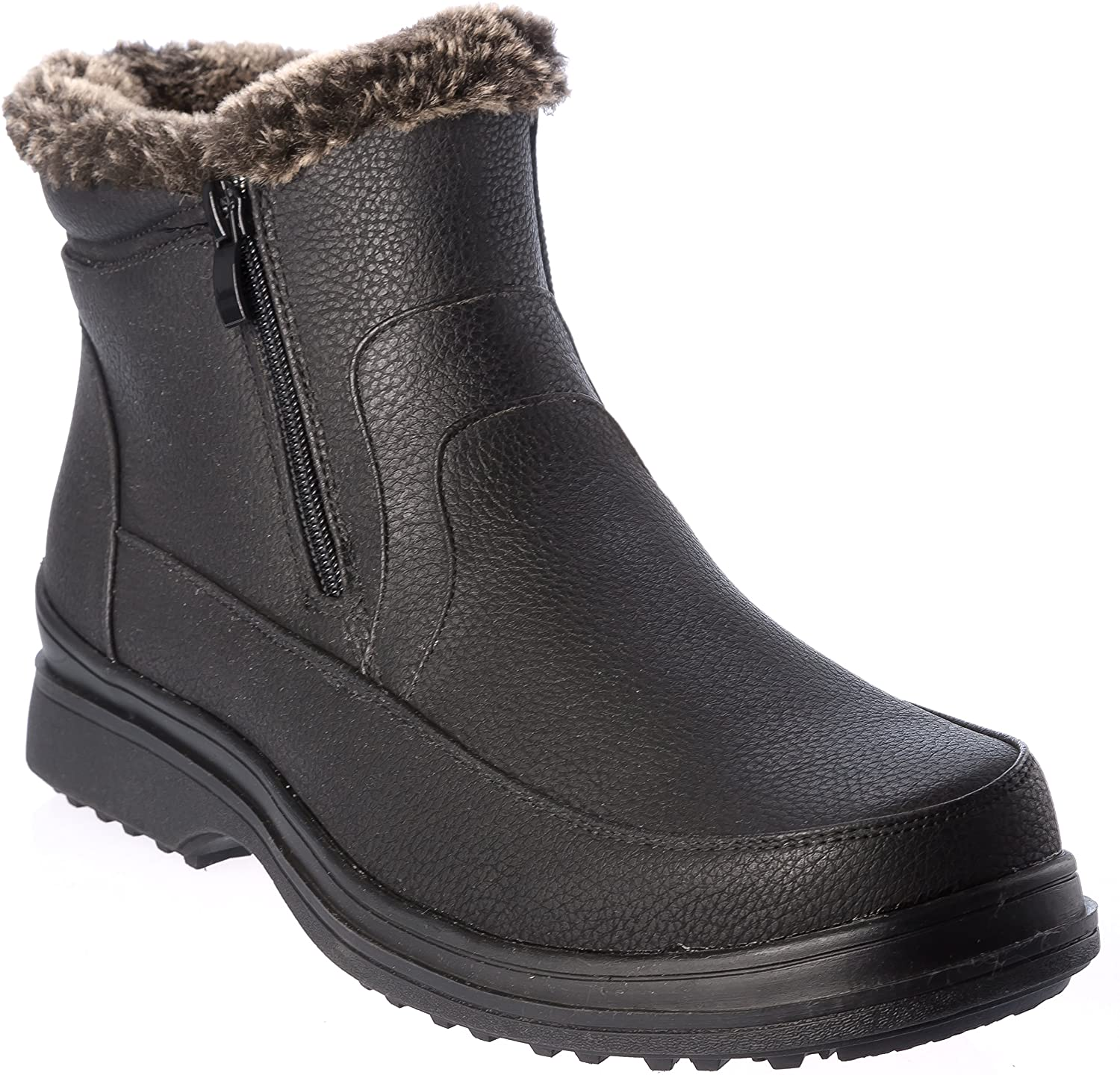 Hiverix rusi02 Mens Winter Boots Fur Lining