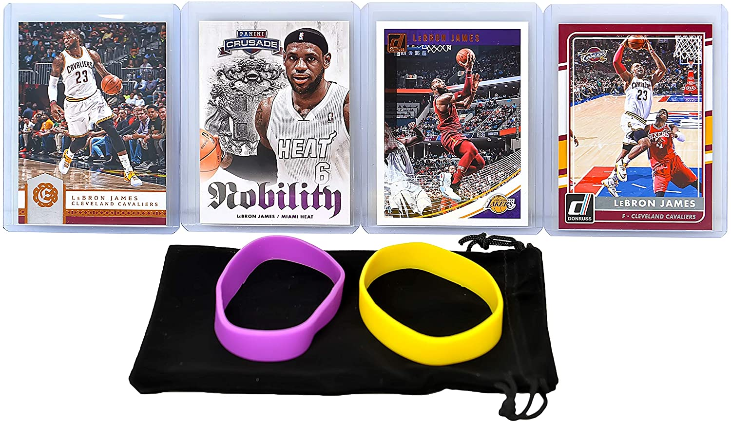 Lebron James (4) Assorted Basketball Cards Bundle - Lakers, Cavaliers, Heat Trading Cards - MVP # 23