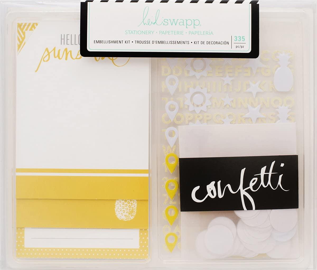 American Crafts 313328 Heidi Swapp Stationery Embellishment Kit