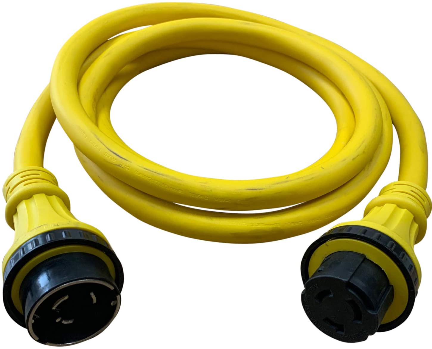 Halex, 51225, 25 FT. Marine Shore Power Extension Cord For Boats, Campers, or RVs, 50 Amp, 125 Volt, 25FT, Yellow