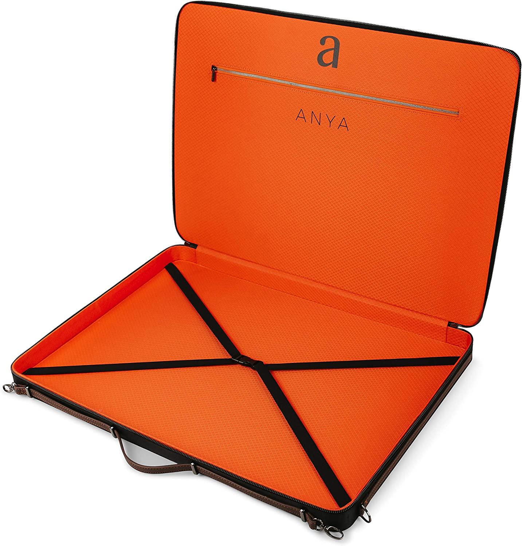 "Luxury Art Portfolio Case 17 x 24"" A2 Artist Carrying Bag | Premium Business Artwork Storage Folder | Professional Art Organizer | Drawings Sketches Foam Board Carry Waterproof Briefcase | Anya SKAPA"