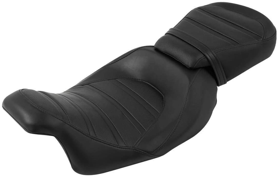 TCMT Rider and Passenger Seat 2 Up Low-Profile Seat Fit For Harley Touring Road King Road Glide Street Glide Electra Glide Ultra Classic 2009-2020