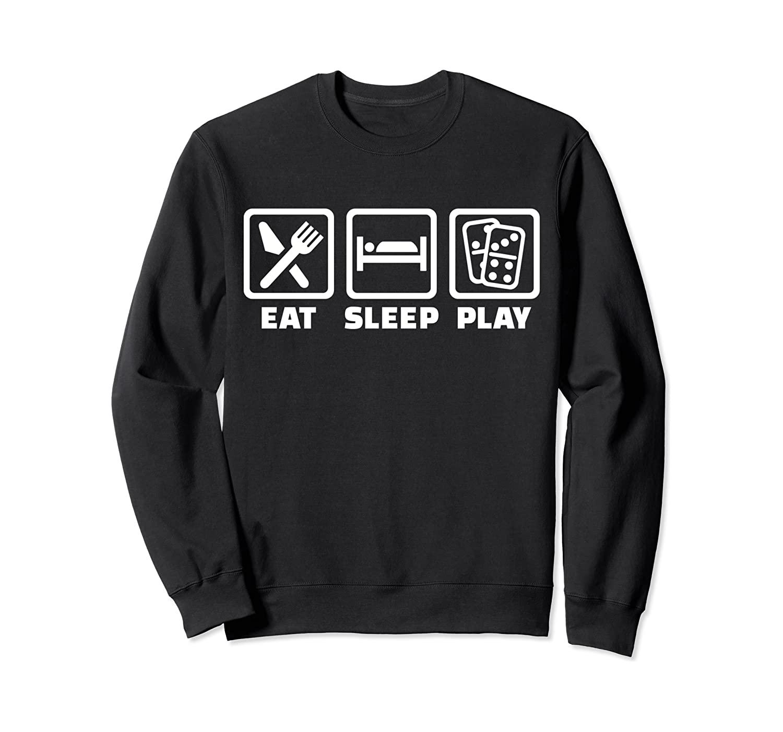 Eat sleep play Domino Sweatshirt