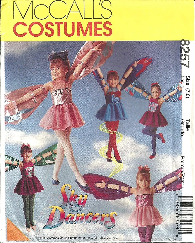 8257 McCalls Sewing Pattern Girls Sky Dancer Pattern Costume Size Large 7 8