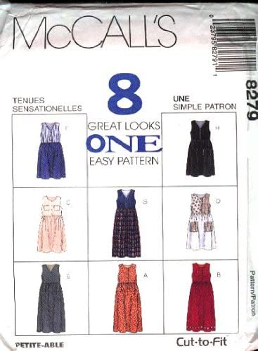 McCalls Sewing Pattern 8279 Misses Jumper - 8 Styles, D (Size 12 14 16)