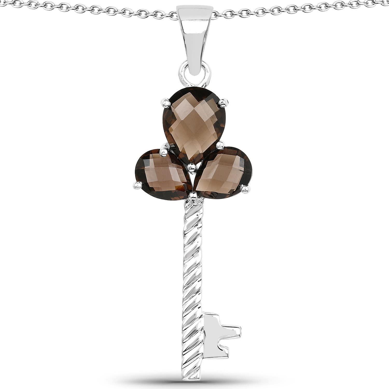 4.10 Carat Genuine Amethyst .925 Sterling Silver Pendant
