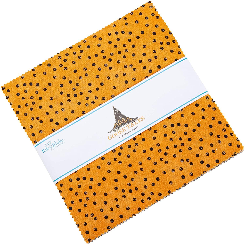 Riley Blake Precut Fabric Goosetales 10 Inch Stacker, 42 Pcs.
