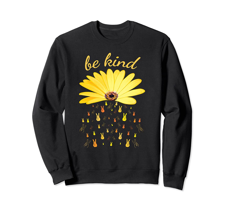 Sunflower Peace Be Kind Floral Kindness Flower Bee Sweatshirt
