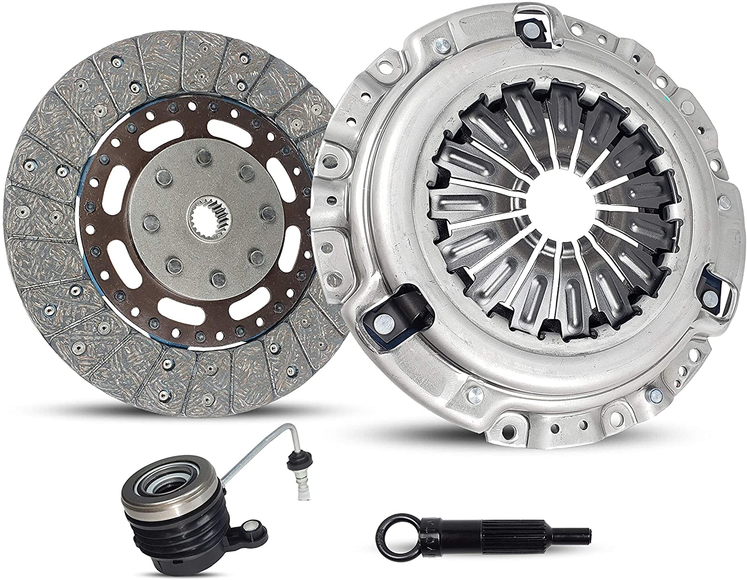 Clutch Kit Compatible With Sentra Altima Base S Sle Se-R Spec V Sl Sedan 4-Door Coupe 2-Door 2007-2012 2.5L l4 GAS DOHC Naturally Aspirated (06-078S)