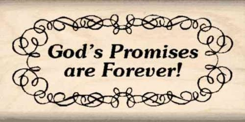 Stamps by Impression God's Promises are Forever! Rubber Stamp