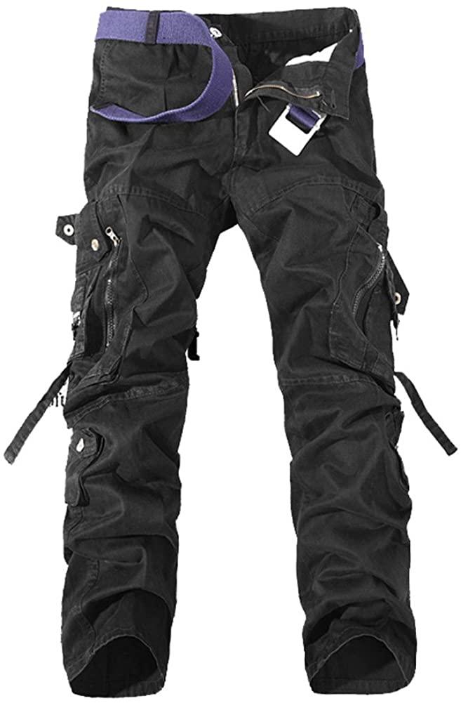 Tonwhar Men's Fashion Stretch Cargo Pants Durable Overall