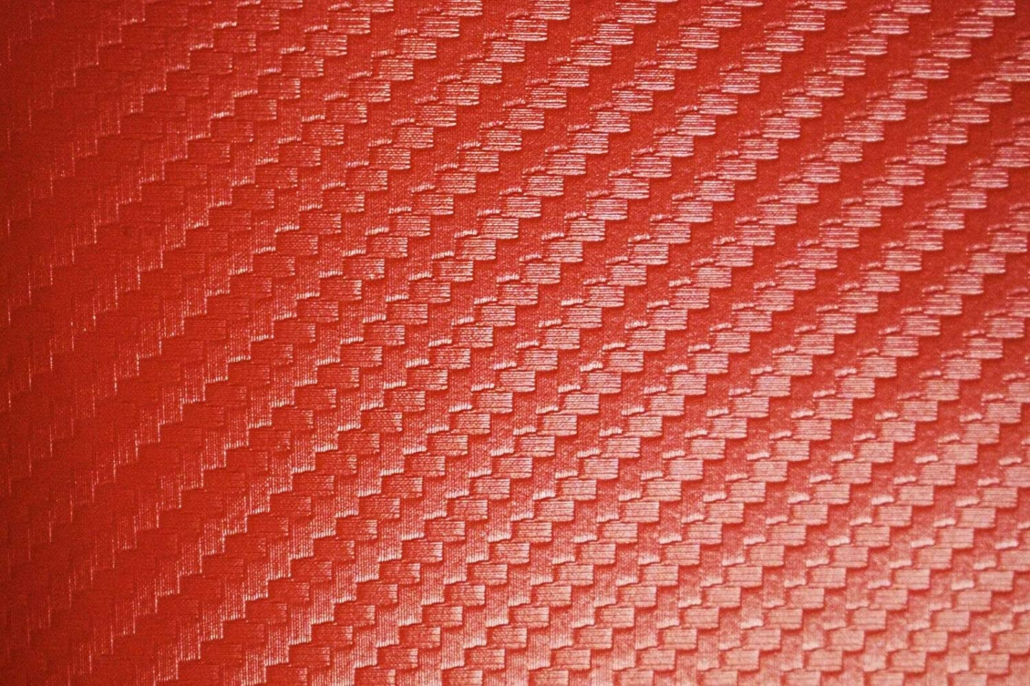 Carbon Fiber Marine Vinyl Fabric Fire Red Outdoor Automotive Upholstery 54