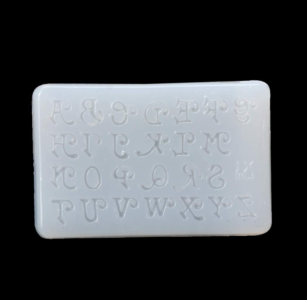 KANGneei Jewelry Mold, Letters Jewelry Making Mold Silicone Mould DIY Craft Key Chain Epoxy Resin Mold