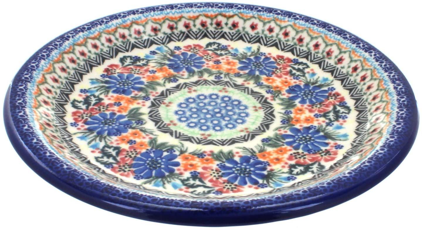 Blue Rose Polish Pottery Ashley Dinner Plate