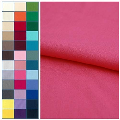 COTTONVILL 20COUNT Cotton Solid Quilting Fabric (3yard, 22-Azalea Pink)