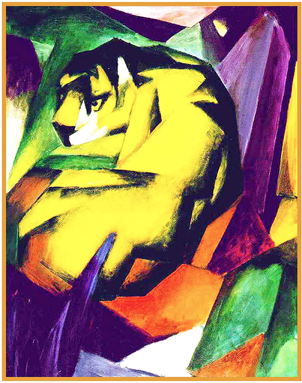 Orenco Originals The Tiger Franz Marc Counted Cross Stitch Pattern