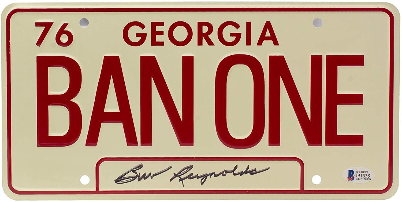 Burt Reynolds Signed Smokey And The Bandit License Plate BAS
