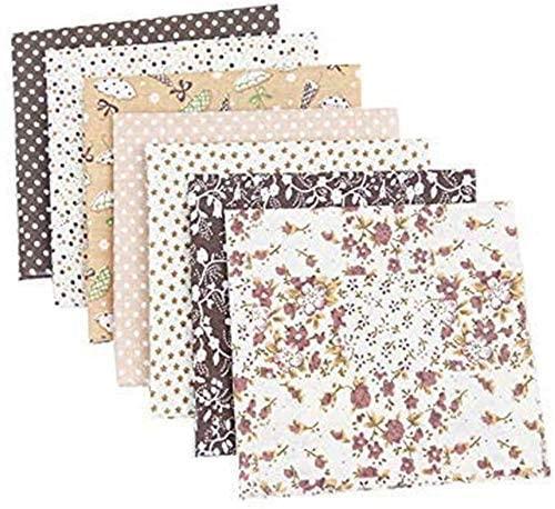 RAILONCH 7pcs Floral Cotton Fabric 19.7