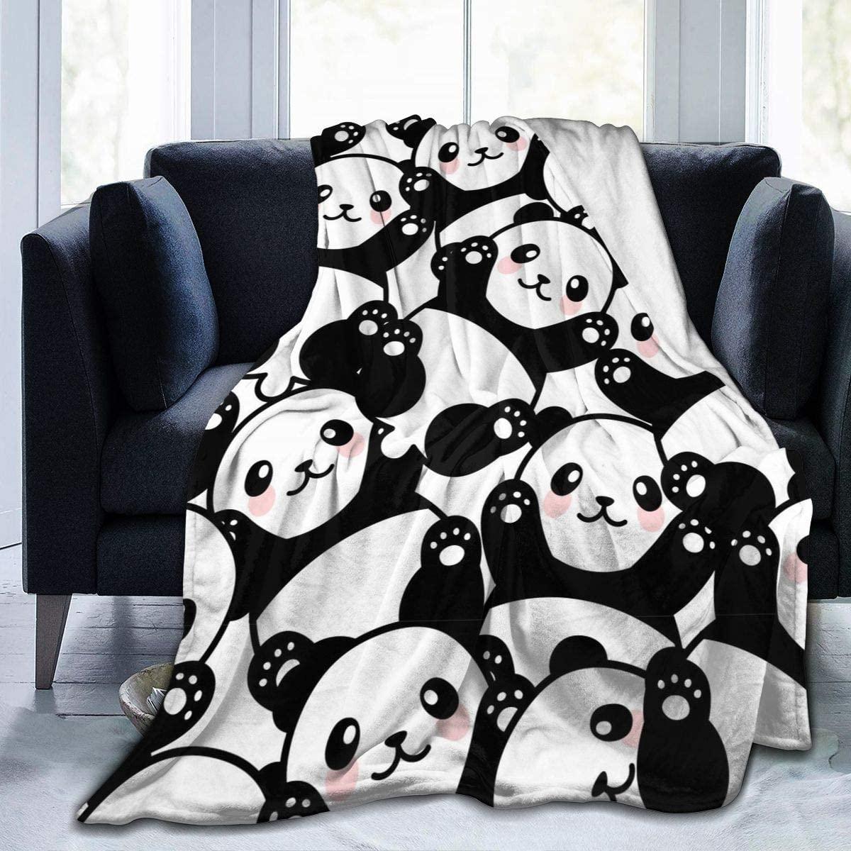 Delerain Panda Soft Throw Blanket 40