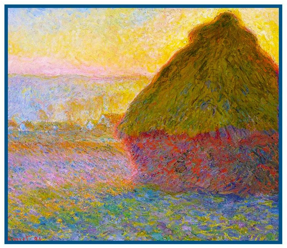 Orenco Originals Haystack at Giverny by Claude Monet Counted Cross Stitch Pattern