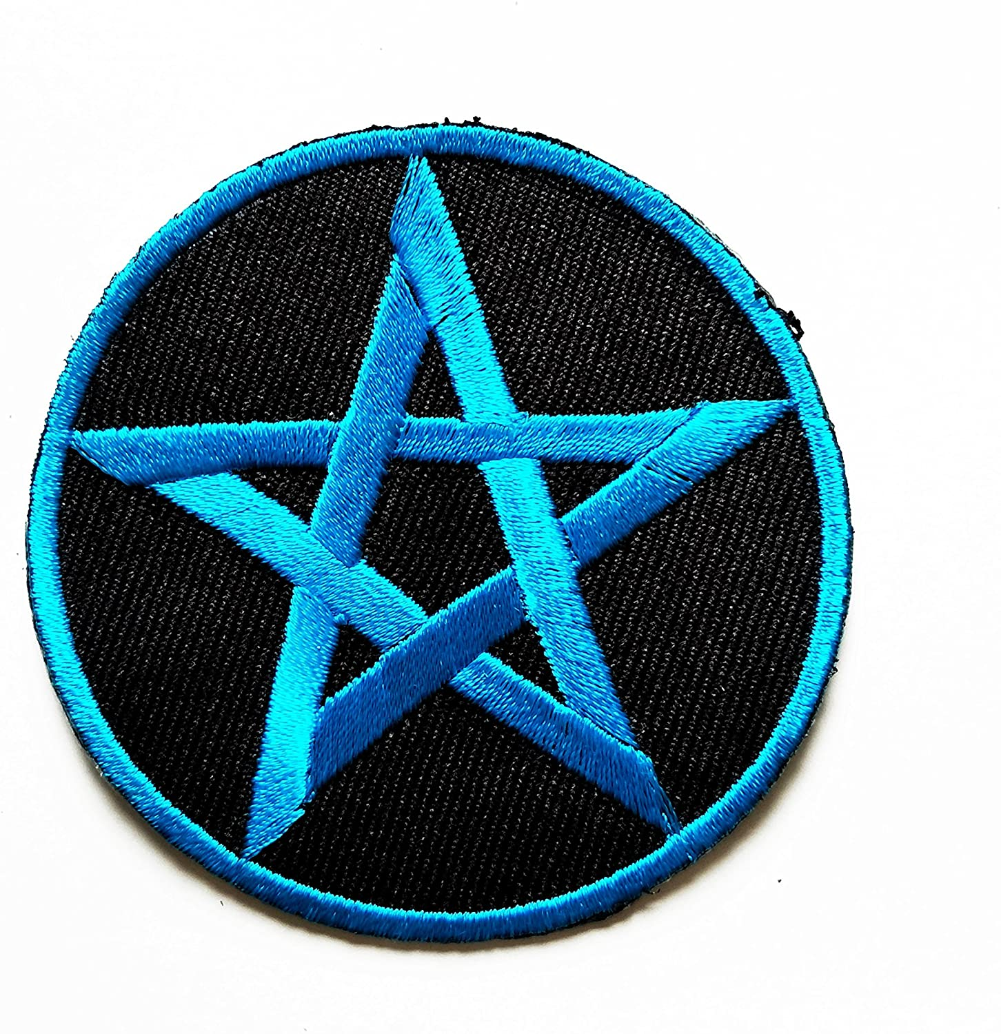 HHO Blue Star Ninja Star Embroidered Patch Embroidered DIY Patches, Cute Applique Sew Iron on Kids Craft Patch for Bags Jackets Jeans Clothes