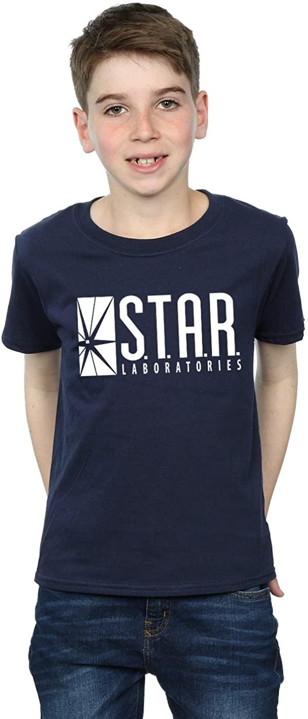 DC Comics Boys The Flash Star Labs T-Shirt 12-13 Years Navy Blue