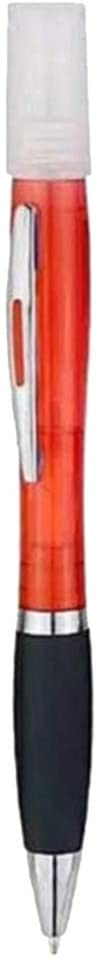 Harilla Ballpoint Pen, Medium Point, 1.0mm, Black Ink with Mini Sprayer for Kids Students Stationery - Red